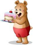De jongelui draagt houdend een Cake Stock Foto