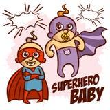 De Jongen Clipart van de Superherobaby Royalty-vrije Stock Foto