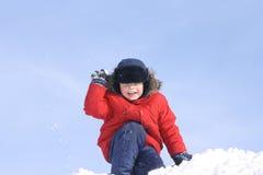 De jongen, in de winter Royalty-vrije Stock Afbeelding