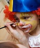 De jongen die clown draagt Royalty-vrije Stock Foto