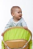 De jongen van de baby kruipt Stock Afbeeldingen