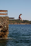 De jongen duikt stock afbeelding