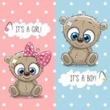 De jongen en het meisje van Teddy Bears vector illustratie