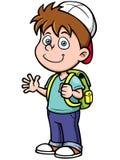 De jongen gaat naar school royalty-vrije illustratie