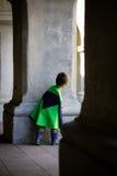 De jongen kleedde zich omhoog als superhero Stock Afbeeldingen