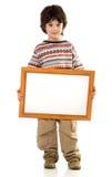 De jongen met een frame stock afbeeldingen