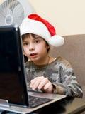De jongen schrijft Stock Fotografie