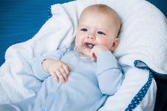 De jongen sneed tanden Stock Foto