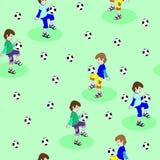 De jongen speelt voetbal Royalty-vrije Stock Foto's