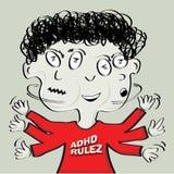 De jongen van Adhd stock illustratie