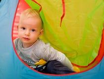 De jongen van de één éénjarigebaby Stock Foto's
