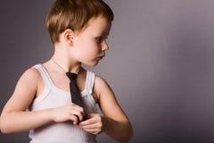 De jongen van de aantrekkingskracht Stock Fotografie