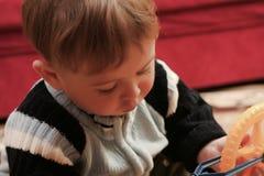 De jongen van de baby Stock Foto