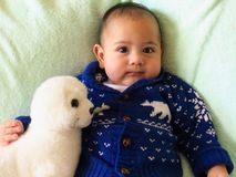 De jongen van de baby Royalty-vrije Stock Foto