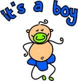 De jongen van de baby stock illustratie