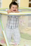 De jongen van de baby in box Royalty-vrije Stock Afbeeldingen