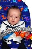 De jongen van de baby het spelen Stock Foto's