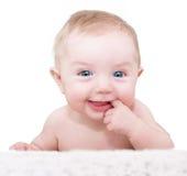 De jongen van de baby het stellen Stock Fotografie