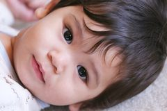 De Jongen van de baby Klaar voor een Dutje 2 Royalty-vrije Stock Afbeelding