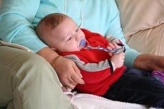 De Jongen van de baby met Grootmoeder royalty-vrije stock fotografie
