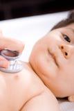 De jongen van de baby in spreekkamer royalty-vrije stock afbeelding