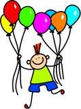 De jongen van de ballon royalty-vrije illustratie