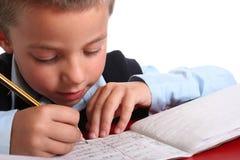 De jongen van de Basisschool Stock Foto