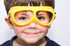 De jongen van de beschermende bril Royalty-vrije Stock Afbeelding