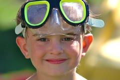 De jongen van de beschermende bril Royalty-vrije Stock Foto's
