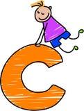 De jongen van de brief C royalty-vrije illustratie