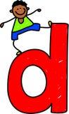 De jongen van de brief D stock illustratie