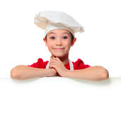 De jongen van de chef-kokkok Royalty-vrije Stock Fotografie