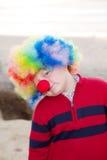 De jongen van de clown Stock Fotografie