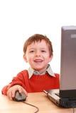 De jongen van de computer Royalty-vrije Stock Foto's