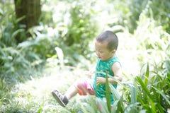 De jongen van de de zomerbaby royalty-vrije stock foto