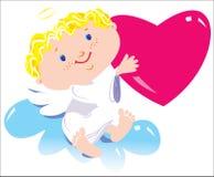 De jongen van de engel Stock Afbeelding