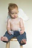 De Jongen van de engel stock fotografie