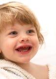 de jongen van de glimlachbaby Stock Afbeelding