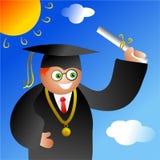 De jongen van de graduatie Stock Foto
