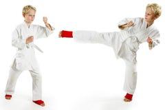 De jongen van de karate Stock Afbeeldingen