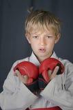 De jongen van de karate Stock Foto's