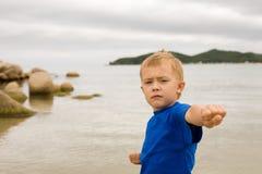 De jongen van de karate royalty-vrije stock foto's