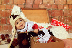 De jongen van de Kerstmisbaby stock foto