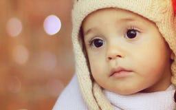 De jongen van de Kerstmisbaby stock afbeelding