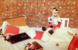 De jongen van de Kerstmisbaby stock fotografie