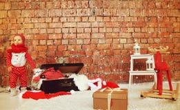 De jongen van de Kerstmisbaby royalty-vrije stock afbeelding