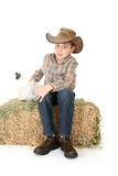 De Jongen van de landbouwer royalty-vrije stock foto's