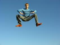 De jongen van de levitatie Royalty-vrije Stock Foto
