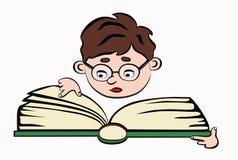 De jongen van de lezing Stock Afbeelding