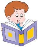De jongen van de lezing Stock Foto